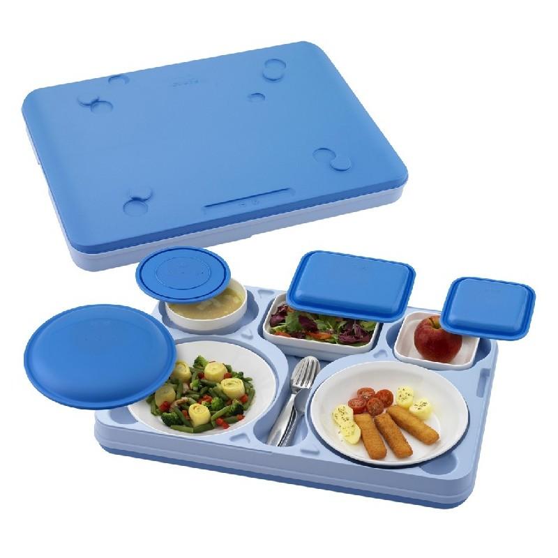 Bandeja isot rmica comida cena thermolive for Platos con compartimentos