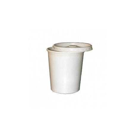 VASO BLANCO CON TAPA PARA CALIENTE Y FRIO EN FORMATO CASH AND CARRY