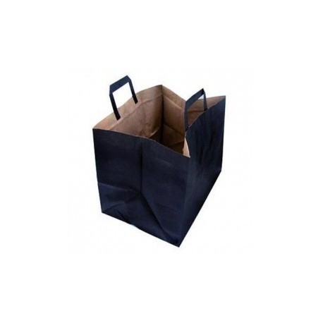 BOLSA KRAFT NEGRA IDEAL PARA LLEVAR COMIDAS Y BEBIDAS 240 MM